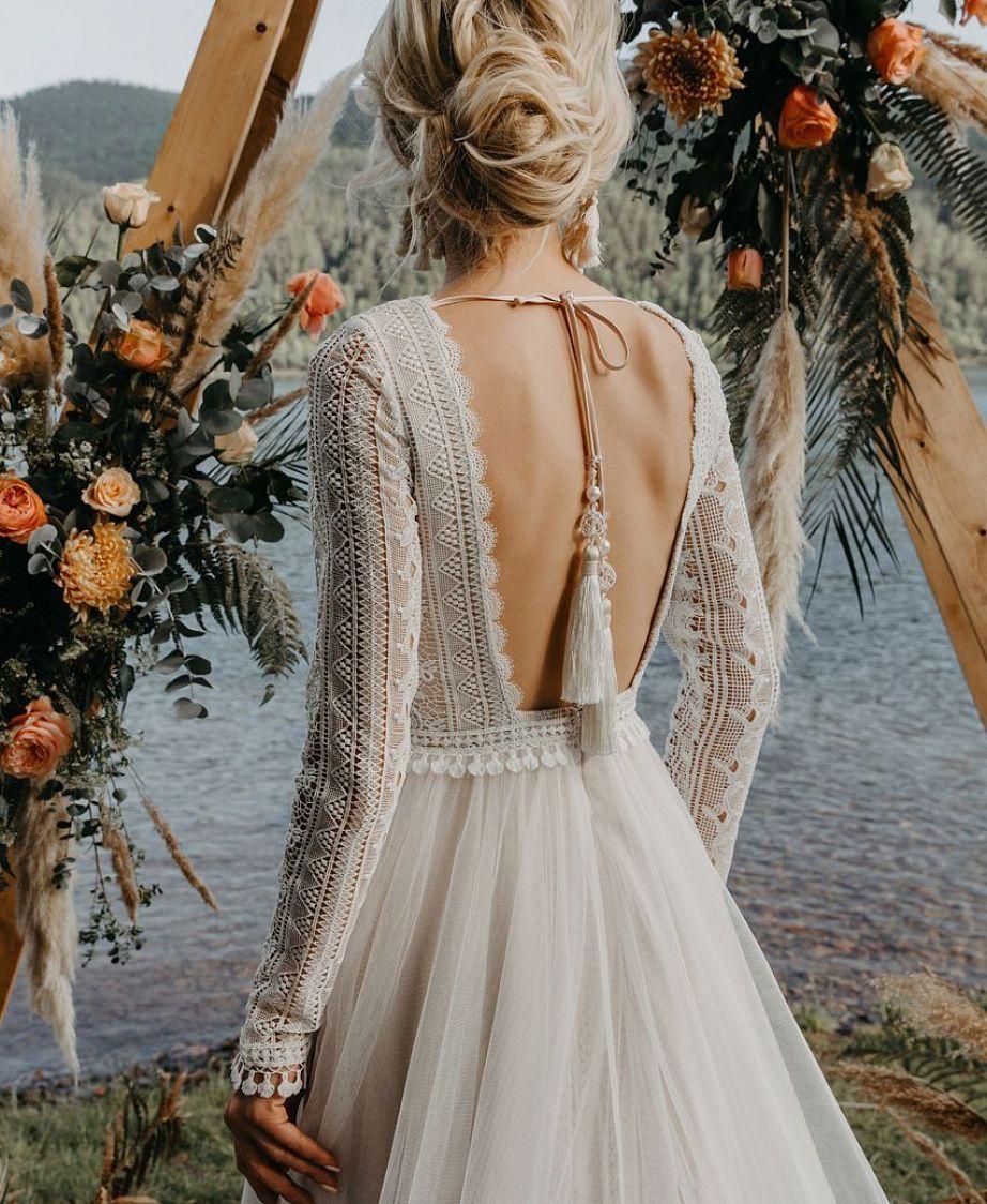 показана свадебные платья с открытой спиной фото мини-камбуз